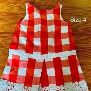 Janie and jack checked dress NWOT